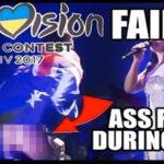 Eurovisão: O momento em que um Australiano mostra o rabo em direto (vídeo)