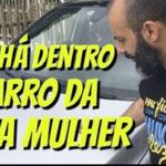Rui Unas faz vídeo sobre o que há no carro da mulher... e vê só o que ele descobriu. Deu merda
