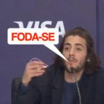 Salvador Sobral larga um foda-se em plena conferência de imprensa